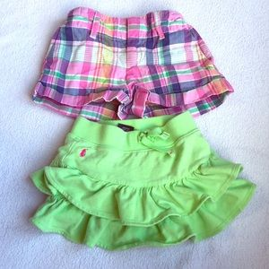 Polo girls shorts and skirt